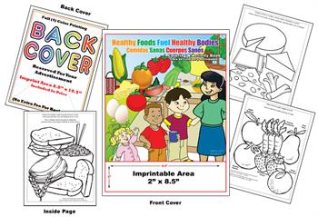 Healthy Foods Fuel Healhty Bodies - Imprintable Coloring & Activity Book