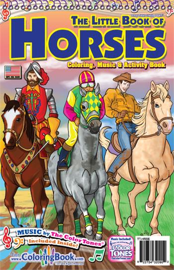 Horses Travel Tablet Coloring Book w/ Music