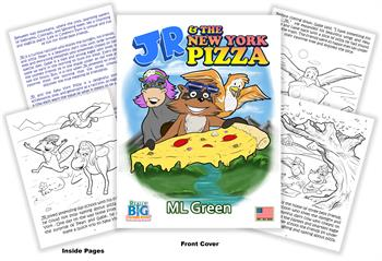 JR and the New York Pizza Coloring Book