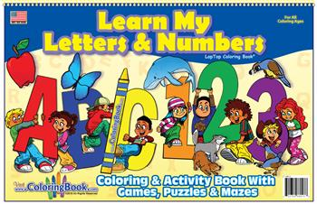 Learn My Letters and Numbers LapTop Coloring Books