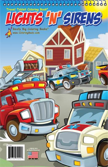 Lights N Sirens Coloring Book