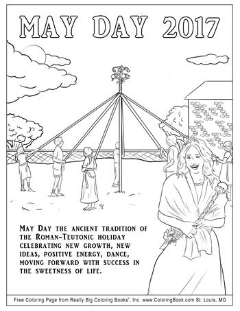 Free Online Coloring Pages - May Day