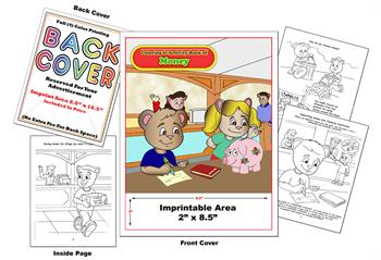 Money with Animals - Imprintable Coloring Book