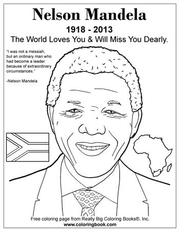 Nelson Mandela - Free Online Coloring Pages
