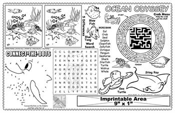 Ocean Odyssey Imprintable Colorable Placemat