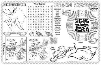 Ocean Odyssey Colorable Placemat