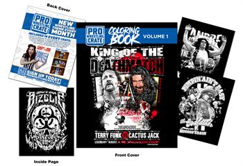 Pro Wrestling Crate Coloring Book vol. 1