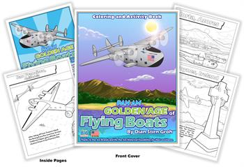 Pan Am - Golden Age of Flying Boats Custom Coloring Book