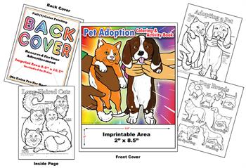 Pet Adoption - Imprintable Coloring & Activity Book