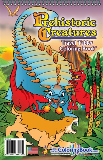 Prehistoric Creatures Travel Tablet Coloring Books