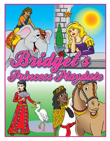 "Personalized Princess Playdate Coloring Book (8.5"" x 11"")"