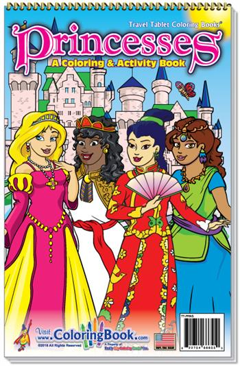 Princesses Travel Tablet Coloring Book