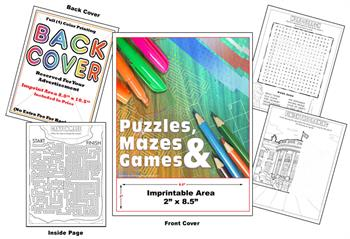 Puzzles- Word Search - Imprintable Coloring & Activity Book