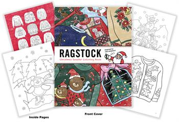 Ragstock Christmas Sweater Coloring Book