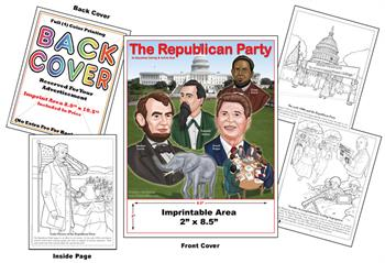 Republican - Imprintable Coloring & Activity Book