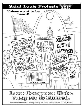 Saint Louis Protests - Free Coloring Page