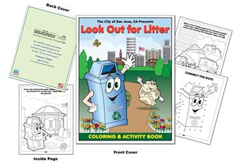 City of San Jose - Look Out for Litter Coloring Book