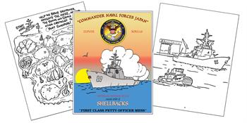 Ancient order of the Shellbacks Custom Coloring Book