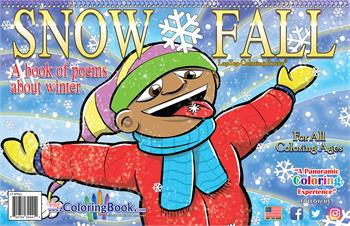 Snow Fall LapTop Coloring Book