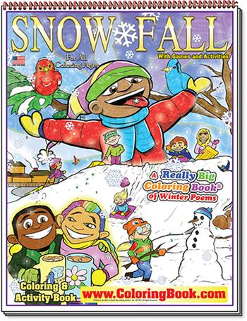 Snow Fall – Winter Poems Really Big Coloring Book