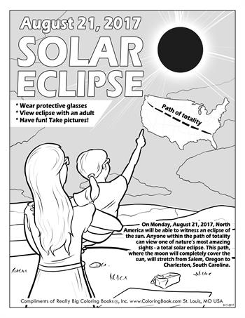 Solar Eclipse 2017 - Free Online Coloring Pages