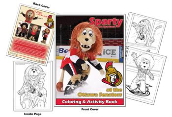 Sparty the Spartacat at the Ottawa Senators Hockey Coloring Book