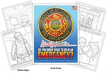 City of St. Louis Fire Department Lifesaving Foundation Coloring Book