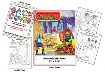 Super Heroes of the Bible - Imprintable Coloring & Activity Book