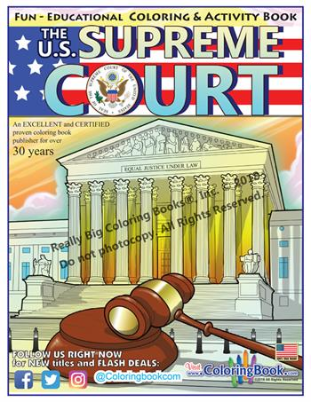 U.S. Supreme Court Fun - Educational Coloring and Activity Book