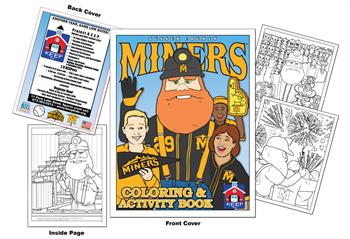 Sussex County Miners Baseball Coloring Book