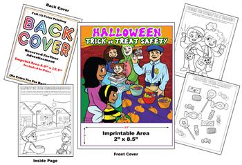 Trick or Treat Safety - Imprintable Coloring Book
