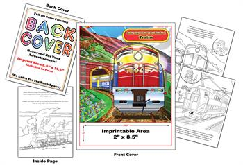 Trains-2 - Imprintable Coloring & Activity Book