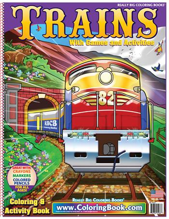 Trains Really Big Coloring Book