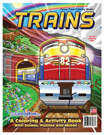 Trains 2 Power Panel Coloring Book