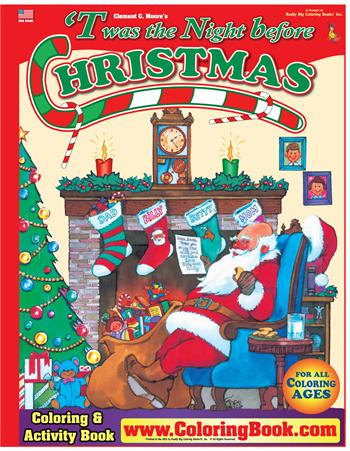 Twas Night Before Christmas Really Big Coloring Book