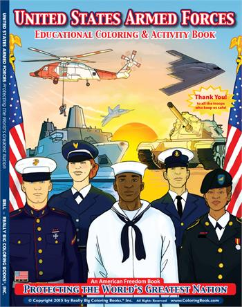 U.S. Military Armed Forces Coloring Activity Book