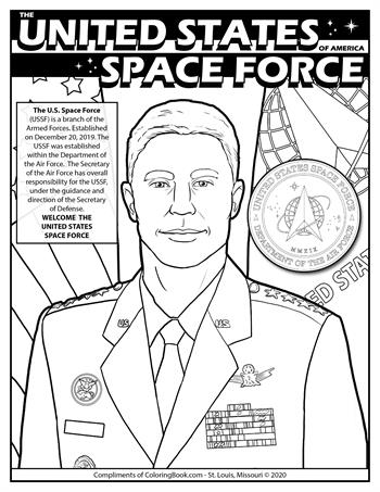 Celebrating U.S. Space Force - Free Online Coloring Page