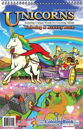 Unicorns Travel Tablet Coloring Book