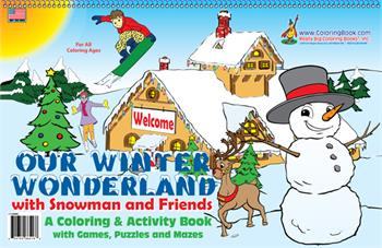 Our Winter Wonderland LapTop Coloring Book