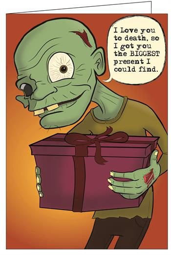 Zombie I Love You Really Big Greeting Card