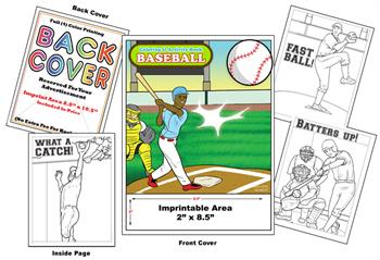 Baseball - Imprintable Coloring & Activity Book
