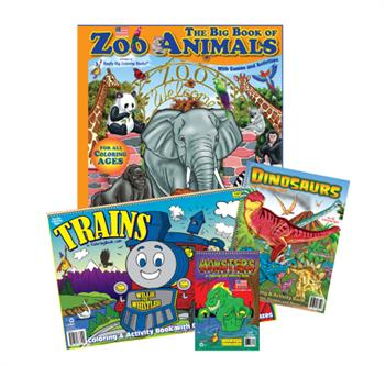 Boy Pack 2 Pre-Packaged Set of 4 Coloring Books