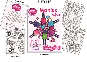 Glisten & Glow presents Manis and More! Coloring Book