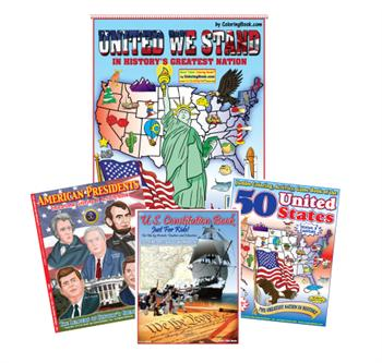 Patriotic 4 Pack Coloring Books