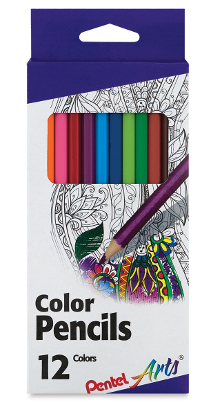 12 ct. Pentel Arts Color Pencils