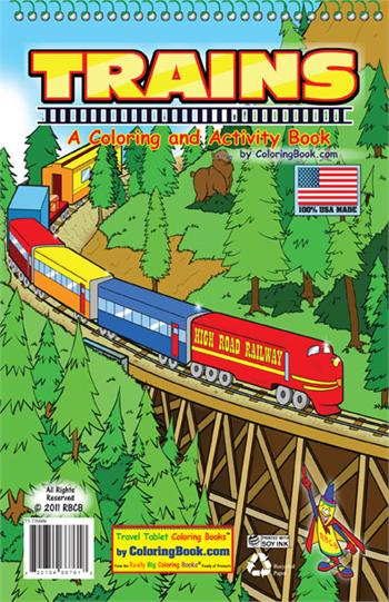 Trains Coloring Books