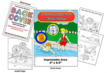 Water Safety - Imprintable Coloring & Activity Book
