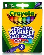 8 Ct. Ultra-Clean Washable Large Crayons