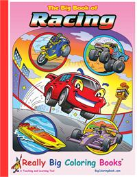 really big racing coloring books - Giant Coloring Books