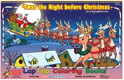 Twas the Night before Christmas LapTop Coloring Book